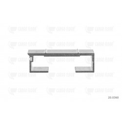 Profilo in alluminio 6 / 112mm nervato