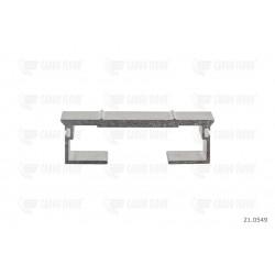 Profilo in alluminio 6 / 112mm-DS nervato