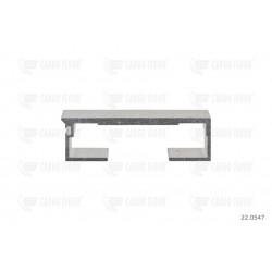 Profilo in alluminio 6 / 112mm liscio