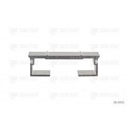 Profilo in alluminio 10 / 112mm-DS nervato
