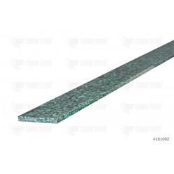 Supporto portante in plastica piena 1.990 x 60 x 7 mm con 5 fori svasati Ø 6,5 mm, incl. rivetti ciechi