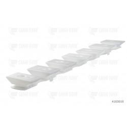 Striscia di supporto in plastica 7/112 [4.41 ''] altezza 32mm. [1.26 ''] (bianco)