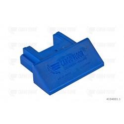 Terminale in plastica blu per profilo 112 mm. [4.41 '']