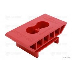 Supporto H32 pos.point, 2 fori 6,5 mm (rosso) senza labbro verticale