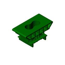 Supporto H44 a scatto 50mm (verde)
