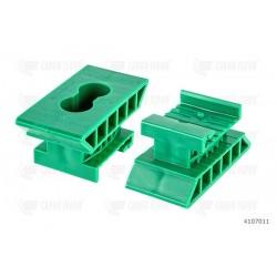 Supporto H44 pos. punto, 2 fori 6,5 mm (verde)