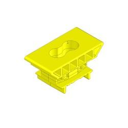 Supporto H46 a scatto 50mm (giallo)