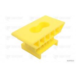 Supporto H46 pos. punto, 2 fori 6,5 mm (giallo)
