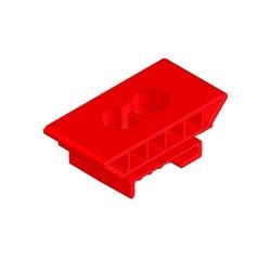 Supporto H32 pos.point, 2 fori 6,5 mm (rosso) con clip verticale